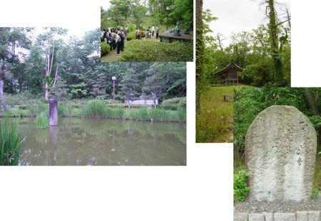 斎藤実盛(さねもり)の首洗い池&芭蕉「むざんやな兜(かぶと)の下のきりぎりす」