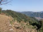 津和野城出丸からの津和野町(左)