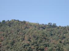 森鴎外旧宅庭から津和野城跡を望む