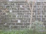 同じ長方形の石を組み合わせた石垣
