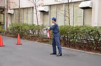 鶴見消防署員による指導